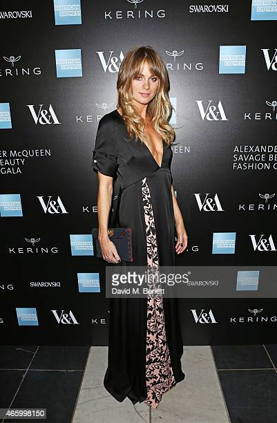 Cressida Bonas arrives at the Alexander McQueen Savage Beauty Fashion Gala at the VA presented by American Express and Kering on March 12 2015 in...