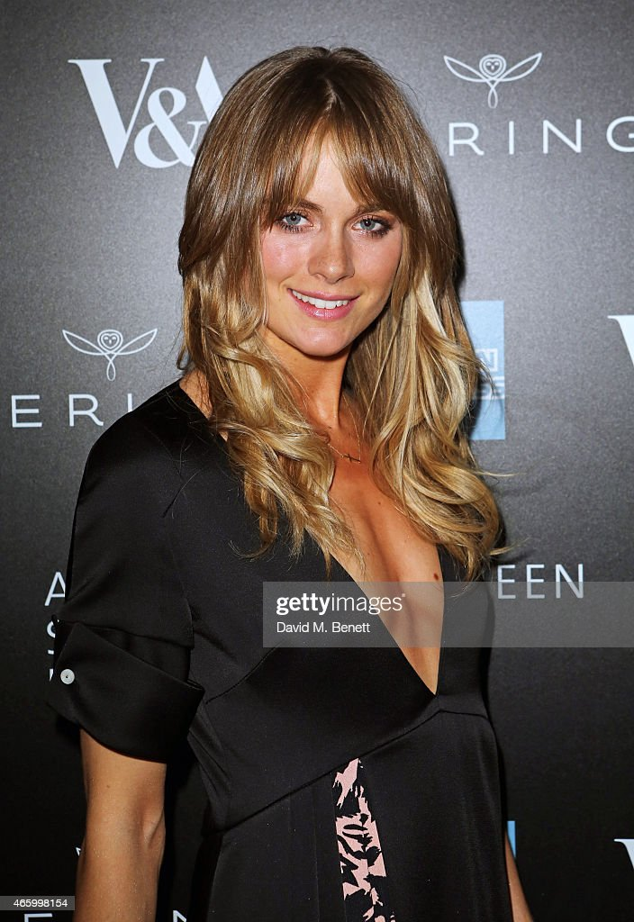 Cressida Bonas arrives at the Alexander McQueen: Savage Beauty Fashion Gala at the V&A, presented by American Express and Kering on March 12, 2015 in London, England.