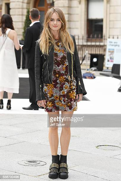 Cressida Bonas arrives for the VIP preview of the Royal Academy of Arts Summer Exhibition 2016 at Royal Academy of Arts on June 7 2016 in London...