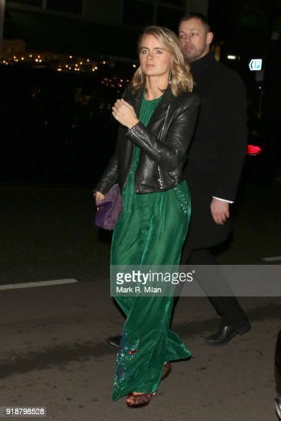 Cressida Bonas attending the Dunhill and Dylan Jones PreBAFTA Filmmakers Dinner on February 15 2018 in London England