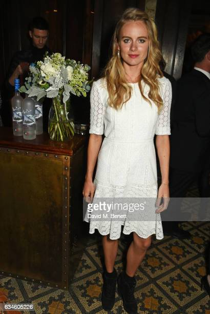 Cressida Bonas attends a dinner cohosted by Harvey Weinstein Burberry Evgeny Lebedev ahead of the 2017 BAFTA film awards in partnership with Grey...