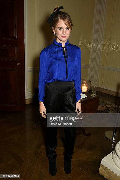 Cressida Bonas attends The Academy Of Motion Pictures Arts Sciences new members reception hosted by Ambassador Matthew Barzun and Mrs Brooke Barzun...