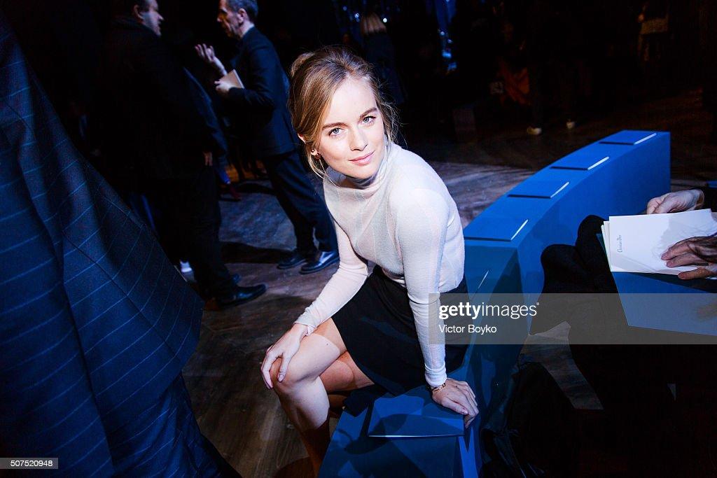 Christian Dior : Front Row - Paris Fashion Week - Haute Couture Spring Summer 2016