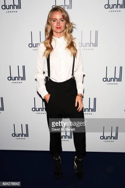 Cressida Bonas attends the dunhill and Dylan Jones preBAFTA dinner and cocktail reception celebrating Gentlemen in Film at Bourdon House on February...