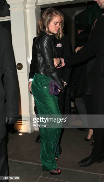 Cressida Bonas attends the Dunhill GQ preBAFTA filmmakers dinner and party cohosted by Andrew Maag Dylan Jones at Bourdon House on February 15 2018...