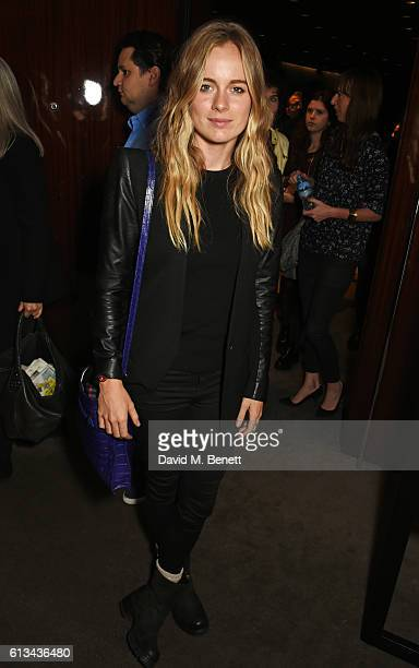 Cressida Bonas attends the exclusive prerelease screening of Ewan McGregor's directorial debut American Pastoral at The Bulgari Hotel on October 8...