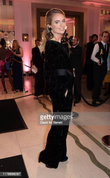 Cressida Bonas attends the Harper's Bazaar Women of the Year Awards 2019 in partnership with Armani Beauty at Claridge's Hotel on October 29 2019 in...