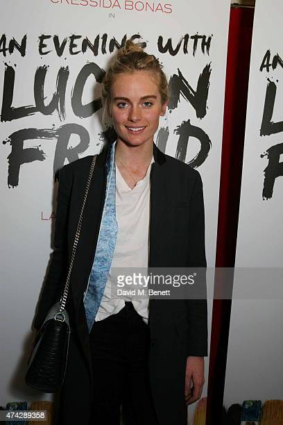 Cressida Bonas attends the press night performance of 'An Evening With Lucian Freud' at the Leicester Square Theatre on May 21 2015 in London England