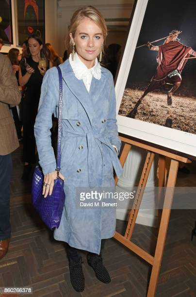 Cressida Bonas attends the Warrior Games Exhibition VIP preview party sponsored by Chantecaille and hosted by HRH Princess Eugenie Waris Ahluwalia...