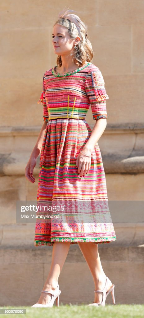 Cressida Bonas attends the wedding of Prince Harry to Ms Meghan Markle at St George's Chapel, Windsor Castle on May 19, 2018 in Windsor, England. Prince Henry Charles Albert David of Wales marries Ms. Meghan Markle in a service at St George's Chapel inside the grounds of Windsor Castle. Among the guests were 2200 members of the public, the royal family and Ms. Markle's Mother Doria Ragland.