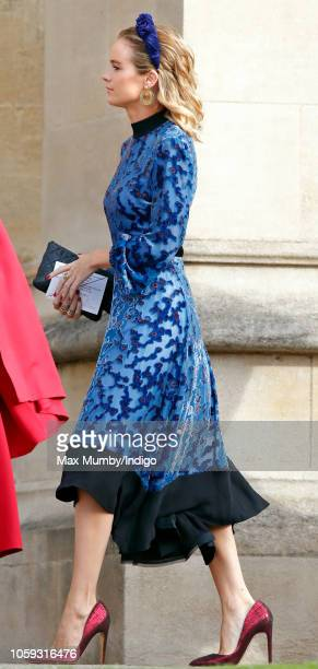 Cressida Bonas attends the wedding of Princess Eugenie of York and Jack Brooksbank at St George's Chapel on October 12 2018 in Windsor England