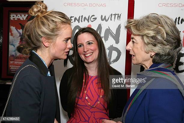 Cressida Bonas LauraJane Foley and Maureen Lipman attends the press night performance of 'An Evening With Lucian Freud' at the Leicester Square...