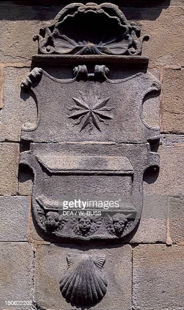 Crest on the Way of St James Galicia Spain