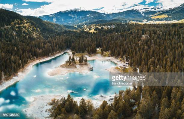 crestasee lake in switzerland - bodensee stock pictures, royalty-free photos & images