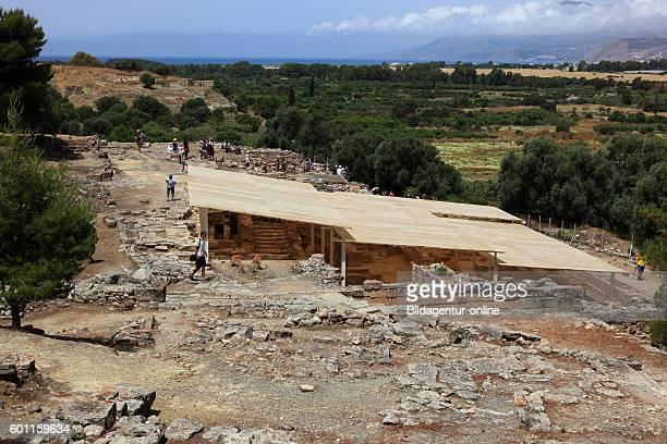Crete archaeological excavation site of Agida Triada mionischer of small Plast