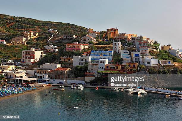 Crete Bali on the north coast look at the place with beach and harbour