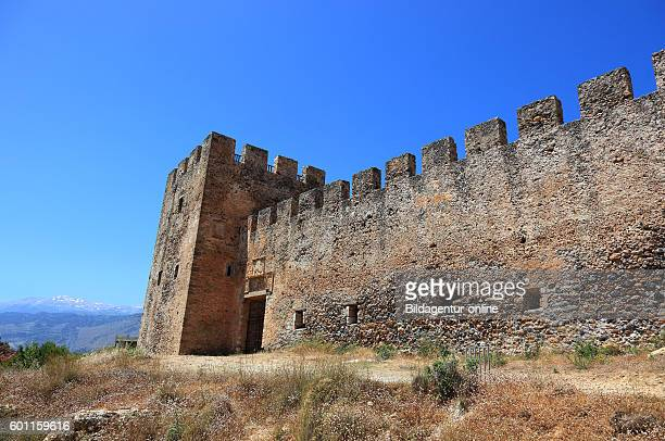 Crete fortress Frangokastello on the south coast of the Mediterranean island