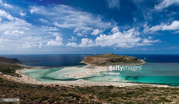 crete islands, greece - lagune stockfoto's en -beelden
