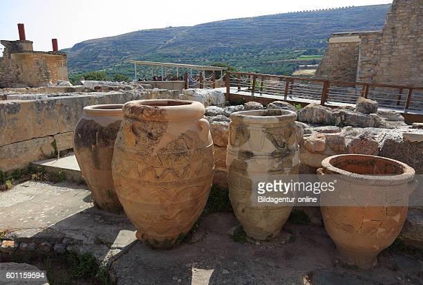 Crete Knossos palace complex of the Minoer part of the arrangement amphoras