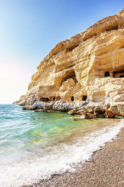 Crete Matala Hippie Caves Greece