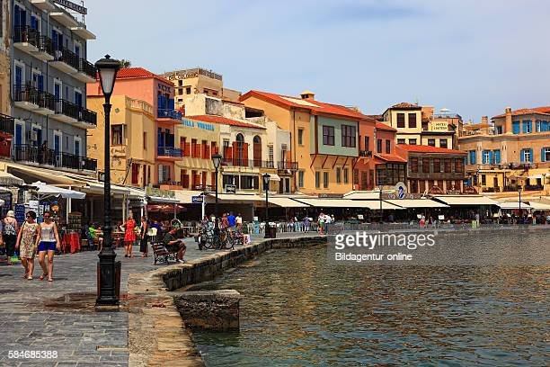 Crete port Chania restaurant in the Old Town in the harbour