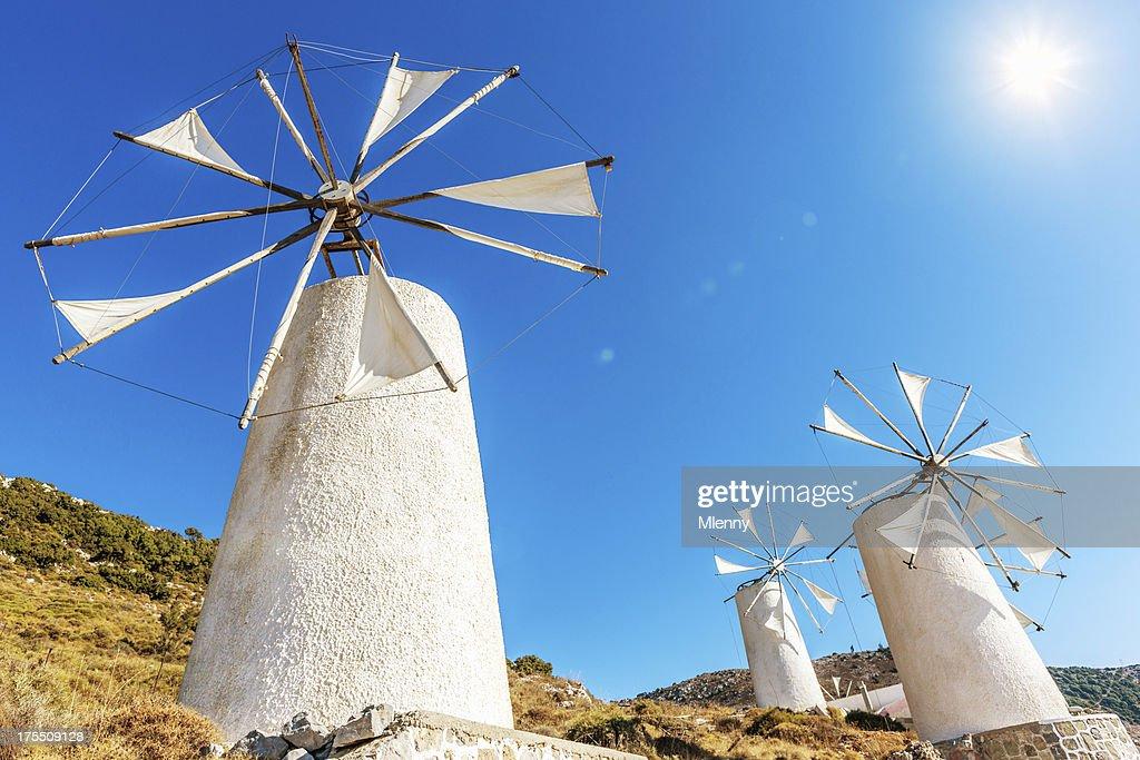 Crete Windmills Greece : Stock Photo