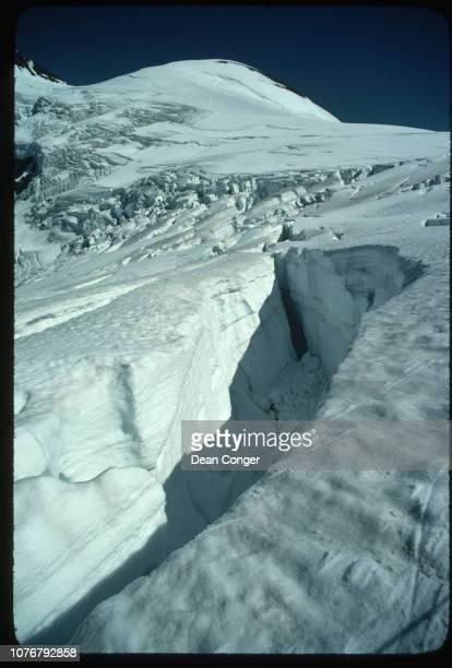 Crevasse on Athabasca Glacier Canada