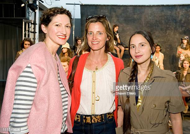 J Crew creative director Jenna Lyons Amanda Brooks and Olya Thompson attend the JCrew Fall 2010 Collection presentation at Milk Studios on April 1...