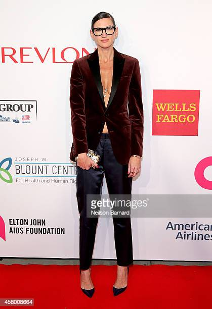 J Crew creative director Jenna Lyons attends the Elton John AIDS Foundation's 13th Annual An Enduring Vision Benefit at Cipriani Wall Street powered...
