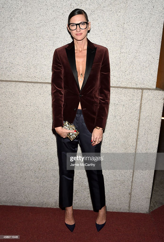 J. Crew creative director Jenna Lyons attends the Elton John AIDS Foundation's 13th Annual An Enduring Vision Benefit at Cipriani Wall Street powered by CIROC Vodka on October 28, 2014 in New York City.