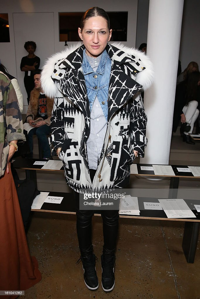 J. Crew creative director Jenna Lyons attends the Suno fall 2013 fashion show during MADE Fashion Week at Milk Studios on February 8, 2013 in New York City.
