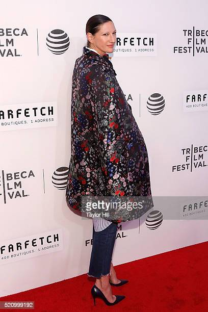 J Crew designer Jenna Lyons attends the world premiere of 'First Monday in May' during the 2016 Tribeca Film Festival at John Zuccotti Theater at...