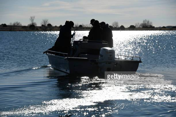 A crew heads back out retrieve more walleye from Lake Pueblo State Park for the annual Colorado Parks and Wildlife Walleye spawn operation March 22...