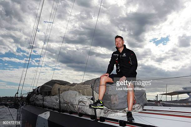 Crew member Michael Clarke poses during Perpetual LOYAL's Boxing Day Bon Voyage at Rose Bay Marina on December 26 2015 in Sydney Australia