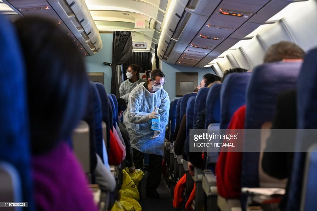 CHINA-FRANCE-HEALTH-VIRUS-TRANSPORT-AVIATION-REPATRIATION : News Photo