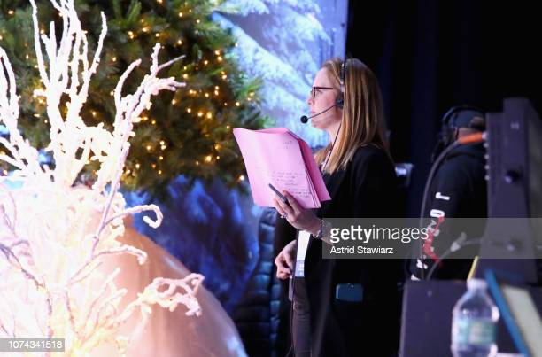 A crew member works during Full Frontal With Samantha Bee Presents Christmas On ICE at PlayStation Theater on December 17 2018 in New York City 477176