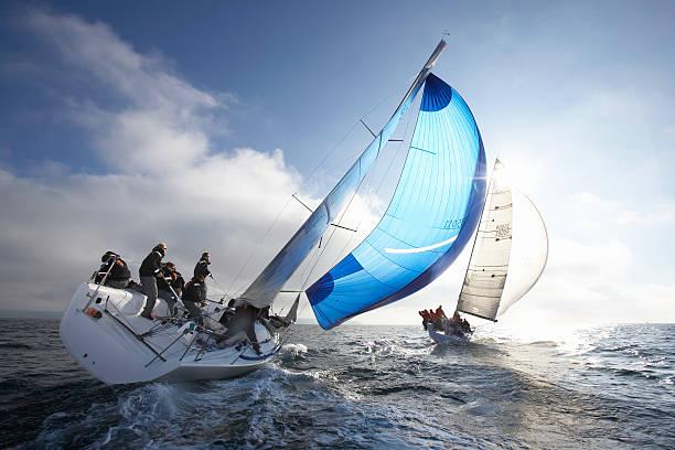 Crew Members On Racing Yacht Wall Art