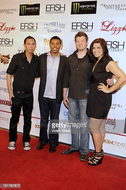 Crew members Sonny Tong Ryan Fluker Ted Distel and Jacqueline Enloe attend The Anniversary At Shallow Creek Private VIP Screening at DGA Theater on...