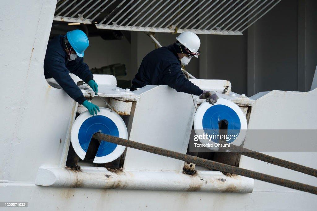 Diamond Princess Cruise Ship Remains Quarantined As Coronavirus Cases Grow : News Photo