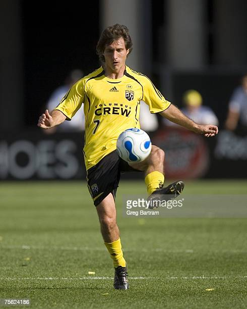 Crew midfielder Guillermo Barros Schelotto in game action at home against Toronto FC on July 22 2007 Schelotto scored both goals in a 20 win