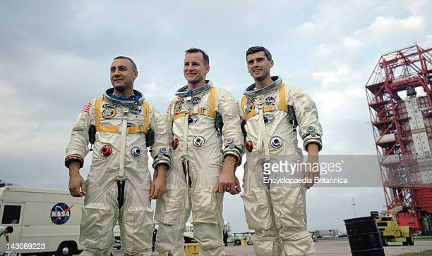 Grissom White And Chaffee Crew Of Apollo 1 Virgil I Grissom Edward H White Ii And Roger B Chaffee During Training In Florida On January 27 The Crew...