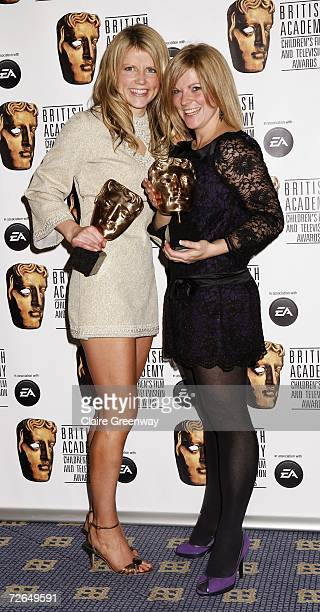 Crew of 'Michaela's Wild Challenge' pose with the Factual award at the 11th British Academy Children's Film Television Awards at the Park Lane Hilton...
