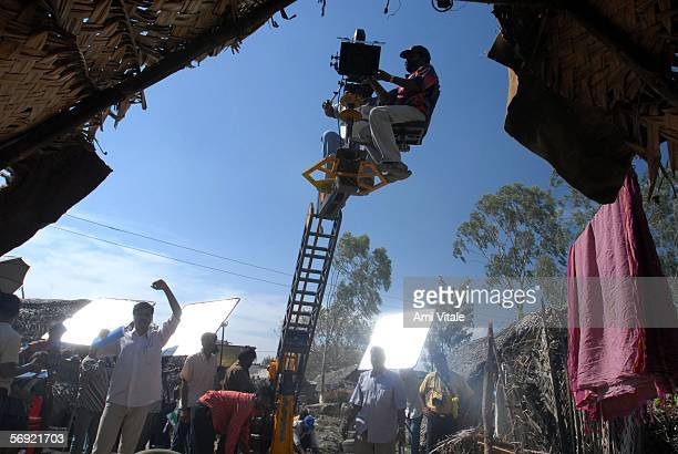 A crew works on a movie that is directed by Kishan Shrikanth reportedly the youngest director in the world directs his first feature film 'C/O...