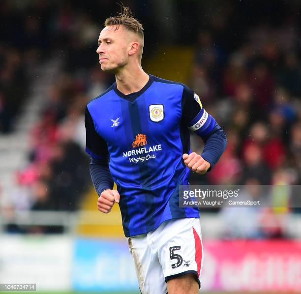 Crewe Alexandra's George Ray during the Sky Bet League Two match between Lincoln City and Crewe Alexandra at Sincil Bank Stadium on October 6 2018 in...