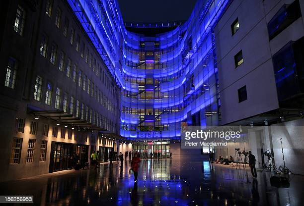 TV crews and members of the public stand outside the BBC headquarters at New Broadcasting House on November 12 2012 in London England Tim Davie has...