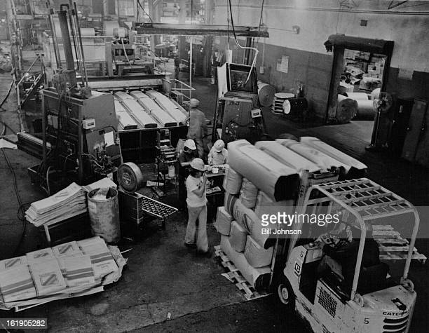 AUG 26 1977 AUG 28 1977 Crews Load RockWool Insulation Bags Batting 24 Hours A Day 7 Days A Week But Can't Keep Up Pueblo plant produces 7 million...