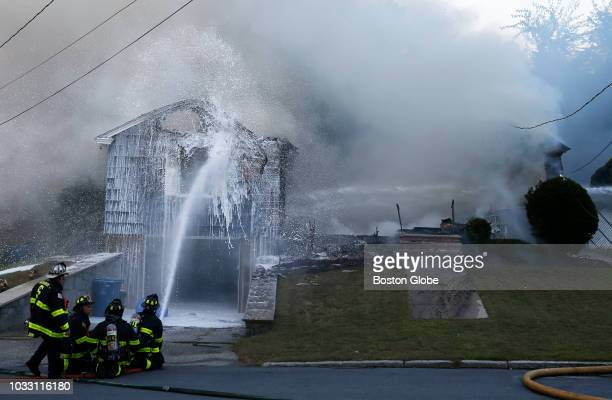 Crews work to knock down a fire on Jefferson Street in Lawrence MA on Sep 13 2018 More than 60 fires and at least three gas explosions rocked...