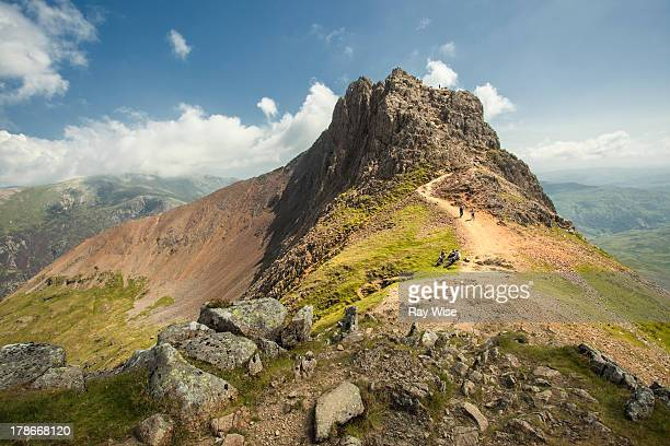 crib goch - wales - snowdonia stock photos and pictures