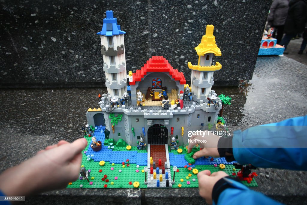 A crib made of Lego is presented during the 75th Nativity Scene Contest takes place at the Main Square on 7 December 2017, in Krakow, Poland. Tradition dates back to 1937, when the 1st Nativity Scene Competition was held. Ever since, aside from a short break during the Second World War, on the first Thursday of December, nativity scene-makers of all ages, amateurs and professional artists, gather at the foot of the Adam Mickiewicz monument at the Main Square to present their latest handmade creations.