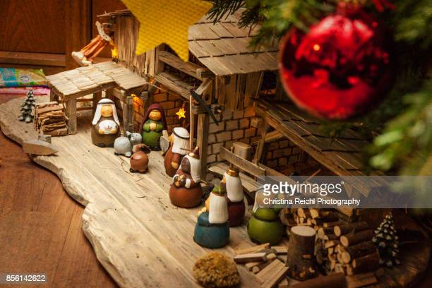 Crib under German Christmas Tree